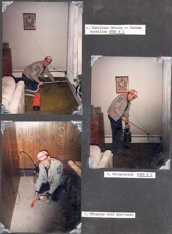 Pre-Vacuuming; Pre-Conditioning; Pre-Spotting Before Truck Mount Purchase 1992-93
